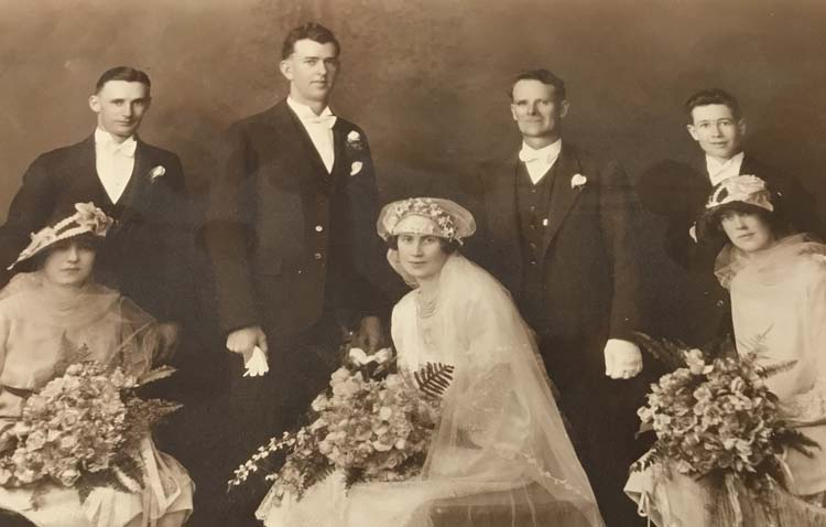 myrtle hickmott wedding 1927
